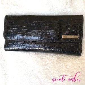 KENNETH COLE REACTION FAUX ALLIGATOR WALLET